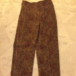Rose Covered Corduroy Jeans